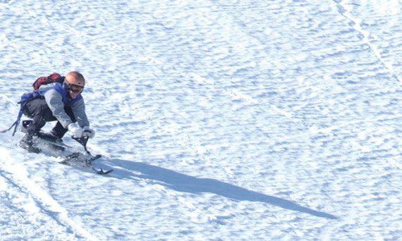 шейни stiga snowracer - шейна STIGA SNOWRACER KING SIZE GT на пистата