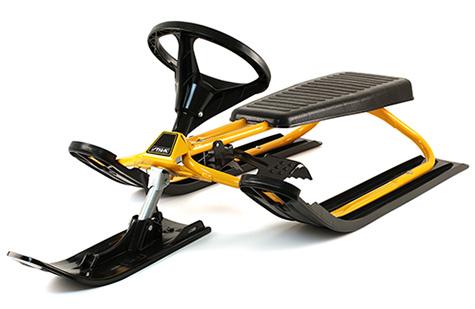 Класическа шейна с кормило Snowracer Classic Yellow
