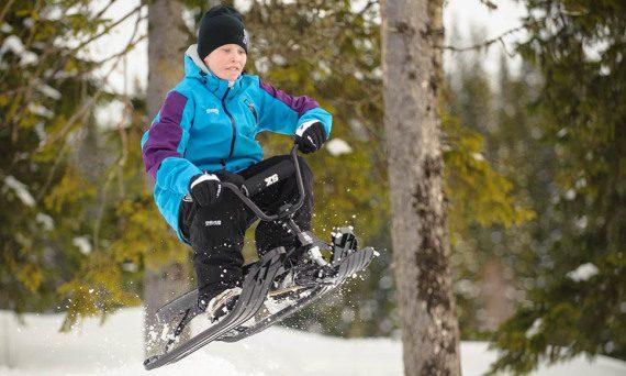 шейна STIGA SNOWRACER SX PRO на пистата - специални шейни Snowracer